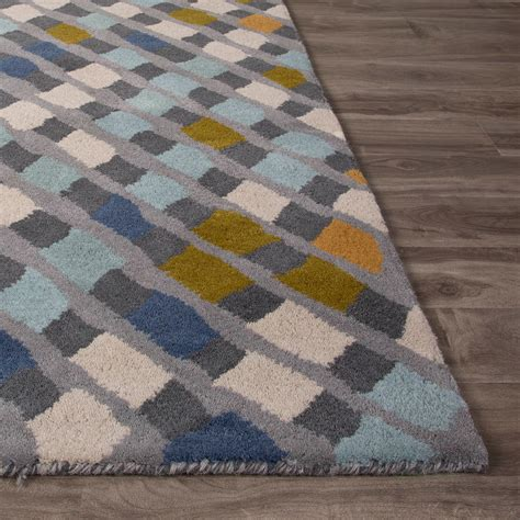 Aerial Area Rug Modern Geometric Aerial Wool Area Rug Blue 2 L X 3 W Jaipur Rugs Touch Of Modern