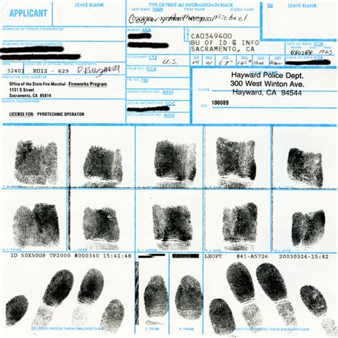 National Fingerprint Background Check Fbi Fingerprint Card