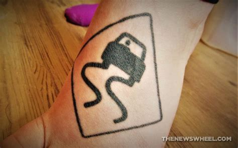street sign tattoo 7 gnarly ideas for car themed tattoos the news