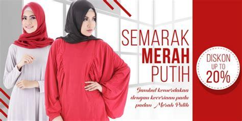 Handuk Tanggung Merah Putih Menyerap saqina sambut kemerdekaan ri dengan semarak merah putih co id