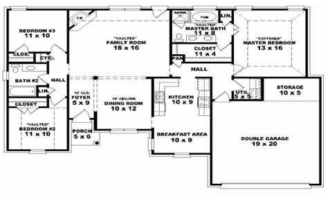 awesome one story house plans one story 4 bedroom house floor plans luxury floor plans