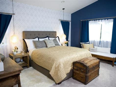 rustic blue bedroom rustic accents in navy white bedroom hgtv