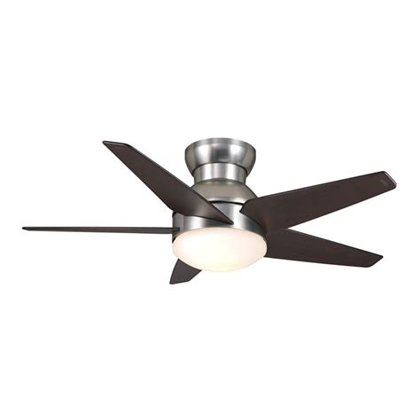 modern flush mount ceiling fan casablanca isotope 44 quot ceiling fan brushed nickel 59019