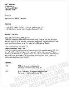 Visual Basic Programmer Sle Resume by Basic Resume Template Best Business Template