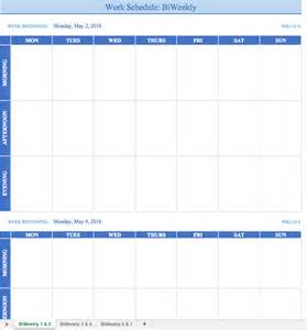 bi weekly work schedule template free work schedule templates for word and excel