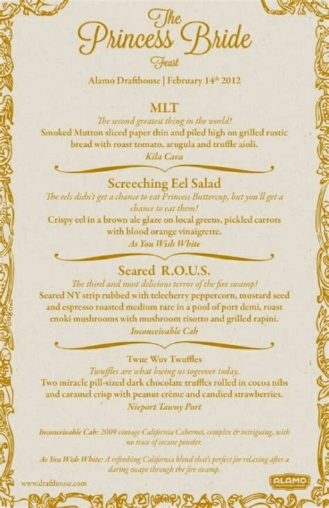 dinner menu themes princess dinner themed menu bestest book