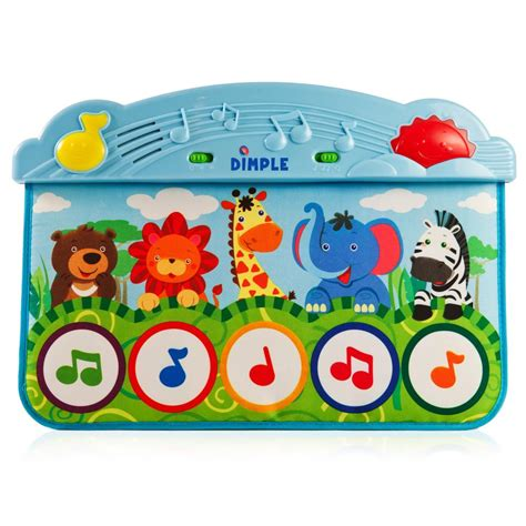 Piano Play Mat Baby by Dimple Dc11956 Zoo Animal Kick And Touch Musical Baby Piano Play Mat For Crib And Floor