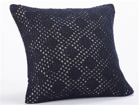 crochet pillow so blue indigo