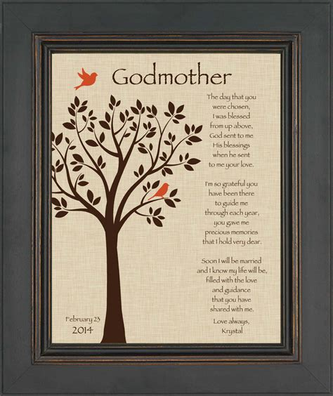 custom godmother gift godmother gift from bride on wedding