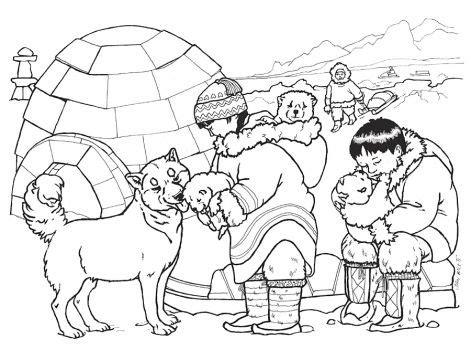 snow bear coloring page kifestők