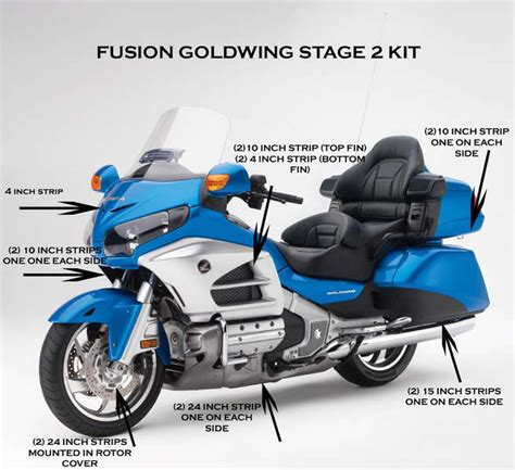 Idw065 Gold Led Light Size 15 goldwing stage 2 fusion led lighting kit customize that ride
