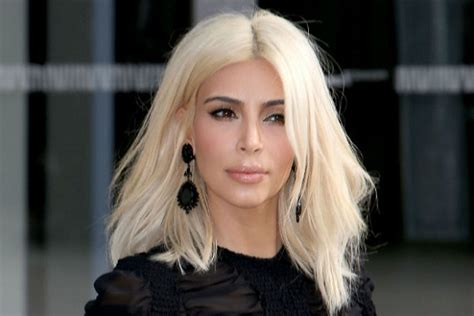 kim kardashian updates platinum hair color in paris kim kardashian admitted platinum blond hair left her hair