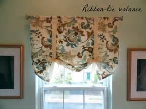 Tie Up Curtain Pattern Tie Up Valance So Easy Peasy S Home Ideas