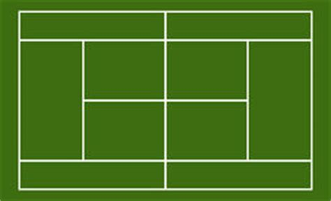 tennis court template template realistic tennis court with lines vector stock