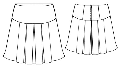 Skirt Draping The Gallery For Gt Pleated Skirt Technical Drawing