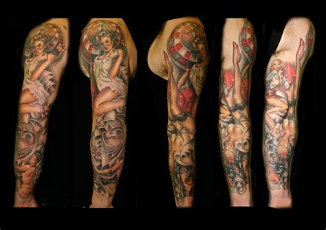 tattoo arm pin up pinup sleeve by lhpandy on deviantart