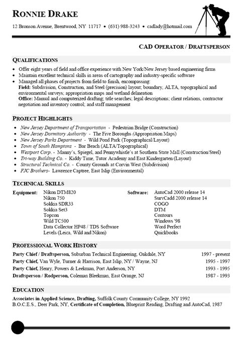resume sle for autocad designer resume sle for cad operator resumes cover letter sle sle resume and