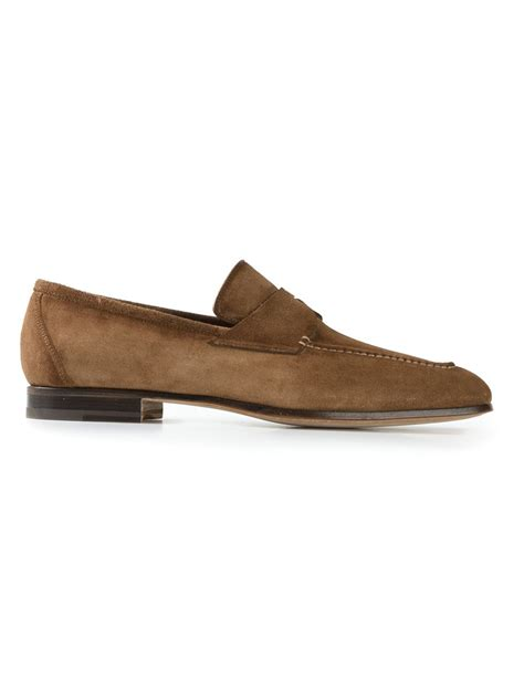 classic loafers santoni classic loafers in brown for