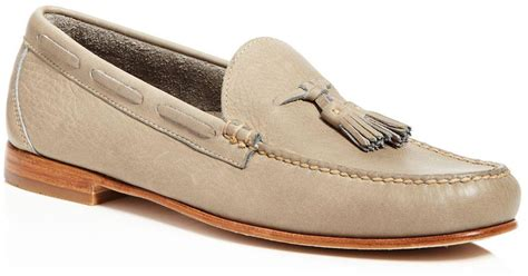 gh bass loafers uk g h bass co leonard tassel loafers in grey for lyst