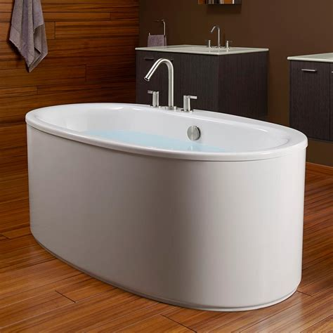 kohler freestanding bathtub kohler k 6368 0 sunstruck 66 inch x 36 inch oval freestanding bath with straight