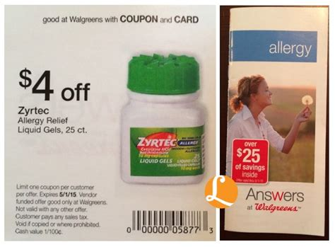 zyrtec printable coupon july 2015 zyrtec allergy liquid gels 25 count only 5 99 at