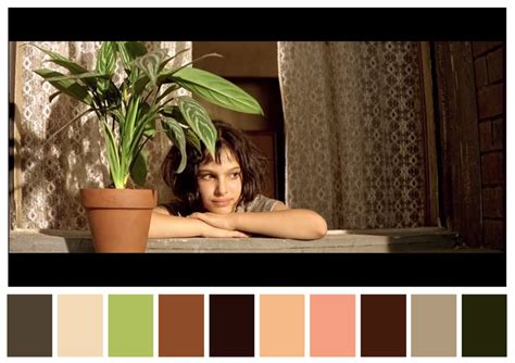 Pantone Color Pallete color charts based on movies fubiz media