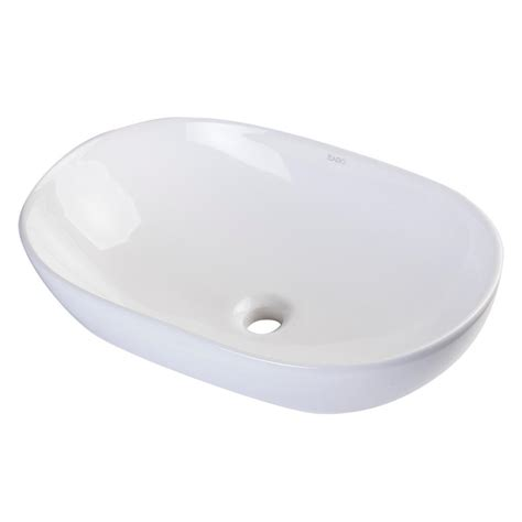oval ceramic vessel sink eago oval ceramic vessel sink in white without overflow