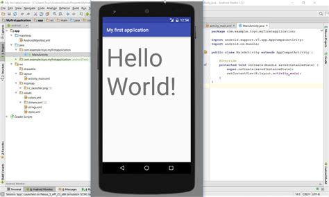 android studio tutorial my first app how to build your first app in android studio youtube
