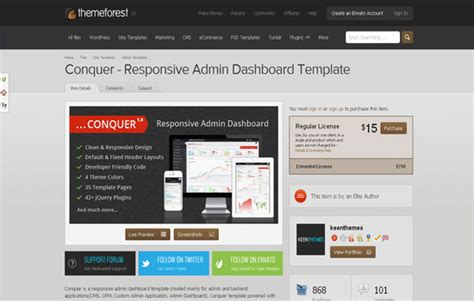conquer responsive admin dashboard template wp admin panel theme top 20 admin panel templates for