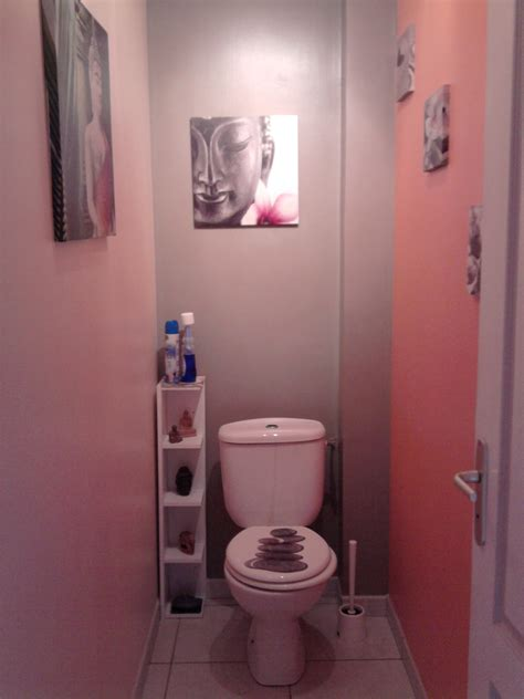 decoration toilette zen deco wc et gris