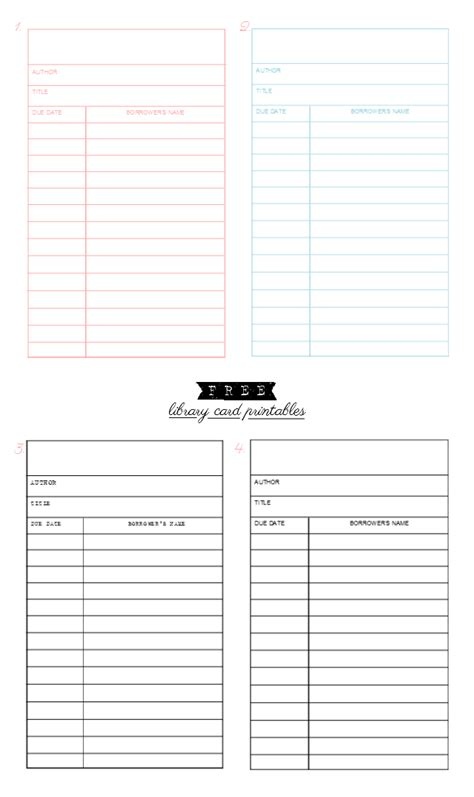 fashioned library checkout card template sepia smiles free library card printables
