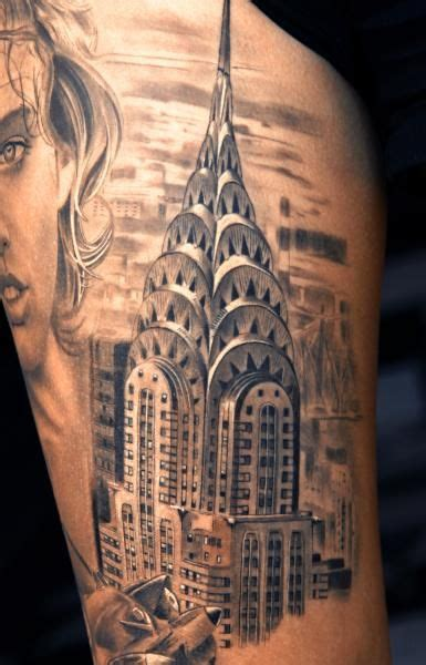 empire state tattoo chrysler building chrysler building tattoovtattoo