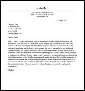 Professional Senior Software Engineer Cover Letter Sample