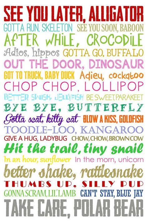 printable goodbye quotes 12 best see you later alligator images on pinterest