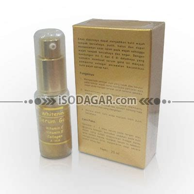 Serum Gold Vit C serum gold whitening vitamin c vitamin e collogen a