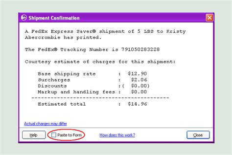 tracking number post office receipt
