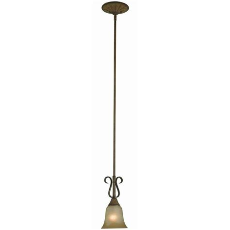 Hton Bay Pendant Lights Hton Bay Chester 1 Light Aruba Teak Mini Pendant