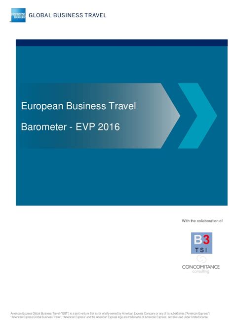 are the twittering classes an accurate barometer during this pre 2016 business travel barometer amex gbt by concomitance