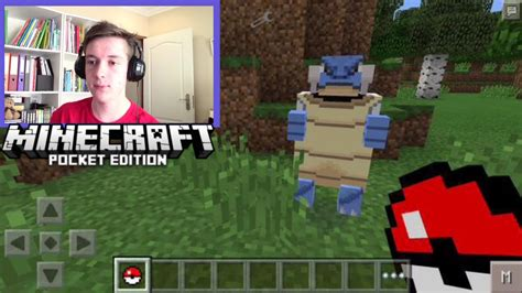 pokecube minecraft pe mods addons minecraft pe addons trailer reaction ios and android