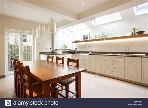 Velux Kitchen Skylights by Kitchen Side Extension Terrace Oak Table Skylights