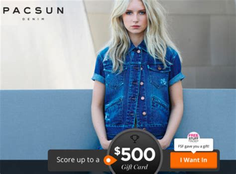 pacsun printable gift cards hot win free 500 pacsun gift card live soon