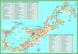 bermuda on map of united states travel map of bermuda with attractions