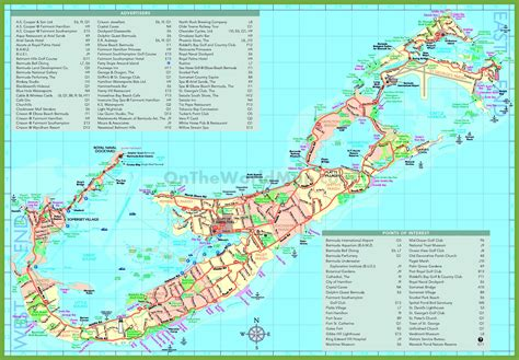 map usa and bermuda travel map of bermuda with attractions