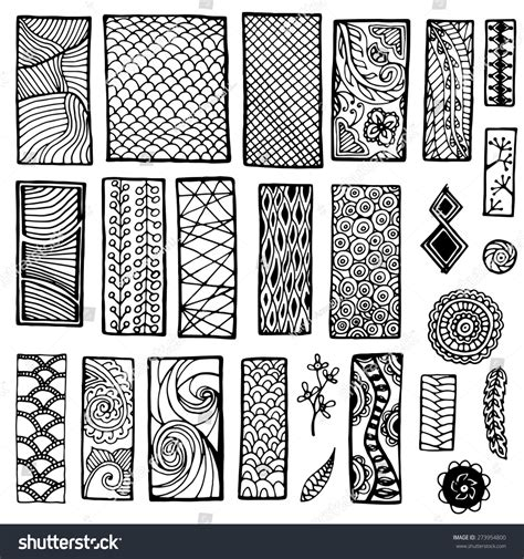 zentangle pattern tribe collection geometric floral doodle pattern tribal stock