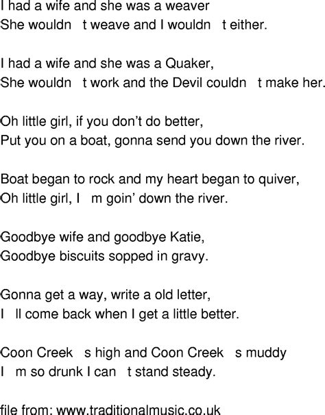 boat on the river lyrics old time song lyrics going down the river