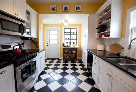 black and white kitchen floor ideas top modern kitchen flooring materials small design ideas