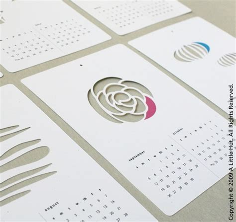 printable planner die cuts 2010 die cut calendars heartfish blog