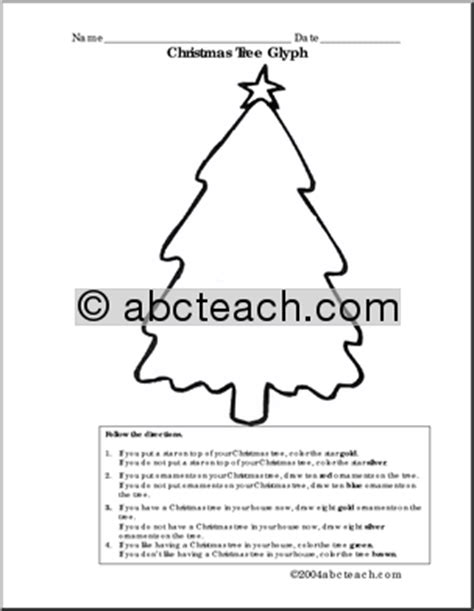 Christmas Tree Glyph Printable | glyph christmas tree a abcteach
