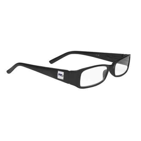 nfl seattle seahawks reading glasses black frame with