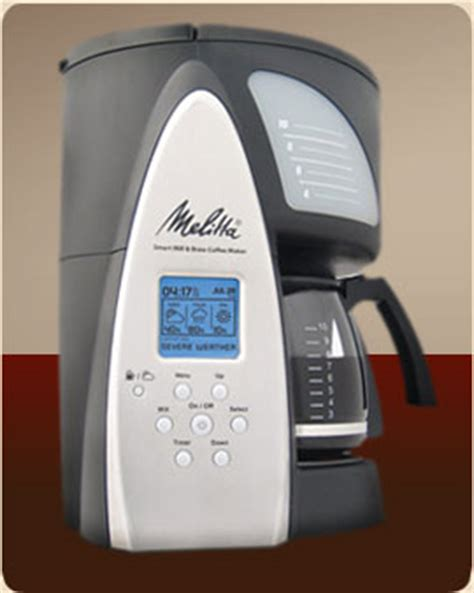 Melitta Me1msb Smart Mill Brew 10 Cup Programmable Coffeemaker by Melitta Mill Brew Smart 10 Cup Programmable Coffee Maker